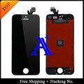 Envío Gratis + Tracking No. 100% probado Para estrenar 'para iphone 5 pantalla lcd display digitalizador de montaje blanco/Negro