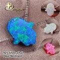 4 Cores 11*13mm e 8*10mm Hamsa Mão Pingente de Opala de Fogo forma 925 esterlina Cadeia de Caixa De prata Colar de jóias finas para mulheres