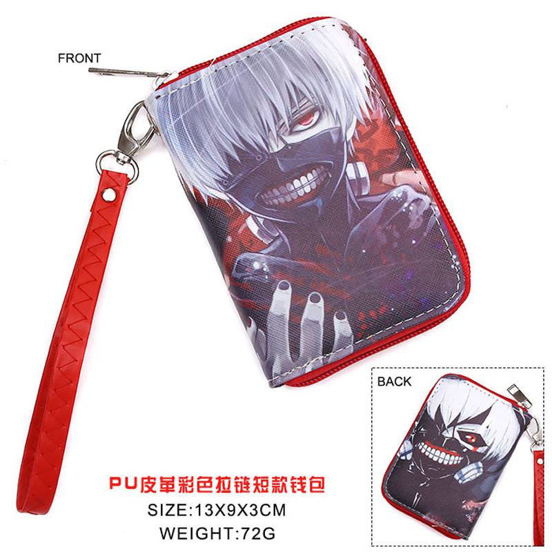 Colorful Anime Tokyo Ghoul Kaneki Ken PU Short Wallet Purse WIth Zipper