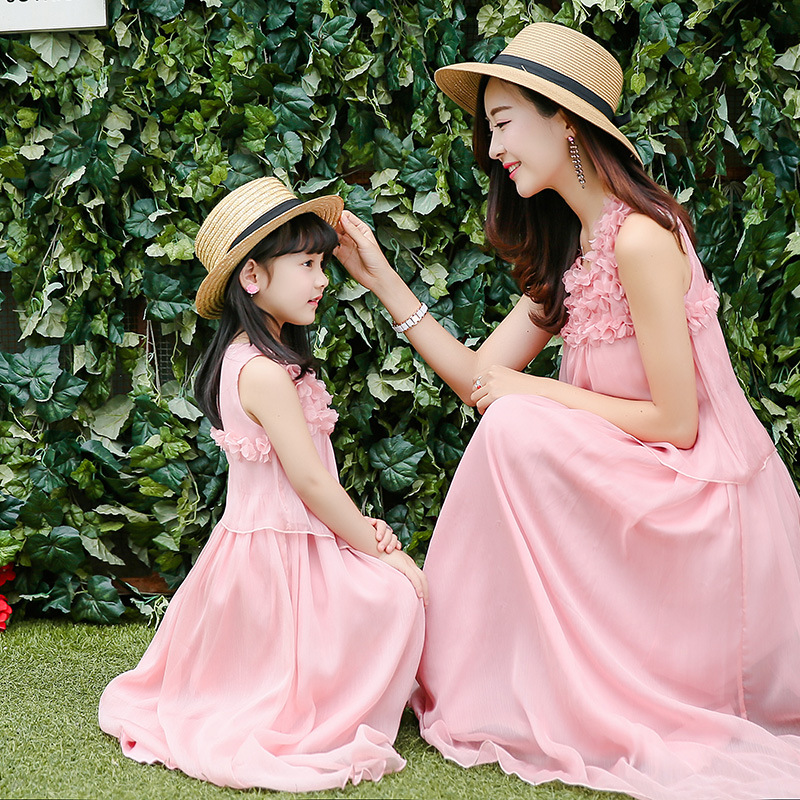 1a7f49f20c988 New 2017 Summer Mother Daughter Dress Family Matching ...