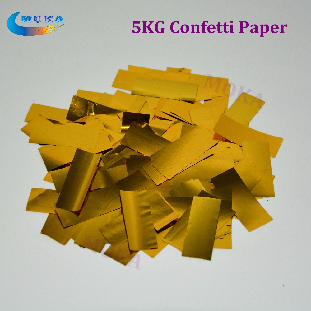 5kg/lot confetti paper Tissue Paper Decoration use for confetti machine in Stage Effect 5kg lot confetti paper sliver paper for confetti cannon machine for wedding party decor