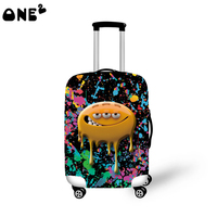 ONE2 Design Bacteria Pattern Protective Cover 22 24 26 Inch Luggage Cover Hot Selling Lovely Suitcase