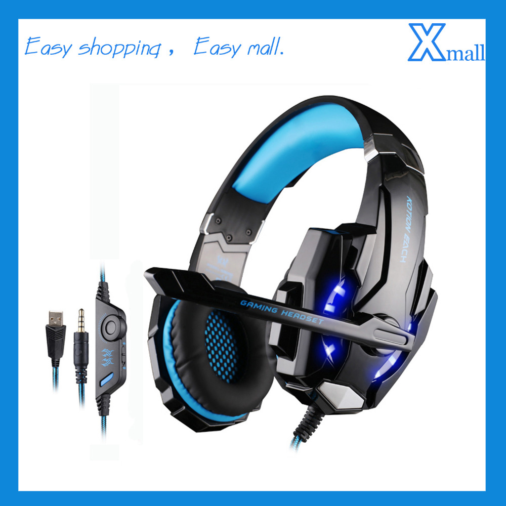 KOTION EACH G9000 3.5mm Gaming MIC LED Light Headset CellPhone Headphone For 3.5mm Jack PS4/Xbox One