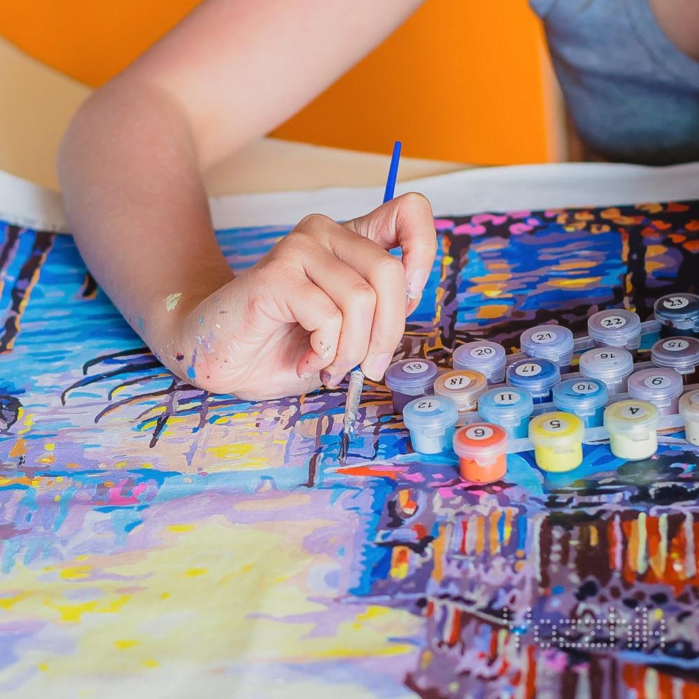 Картина-раскраска по номерам «Венеция» с Алиэкспресс