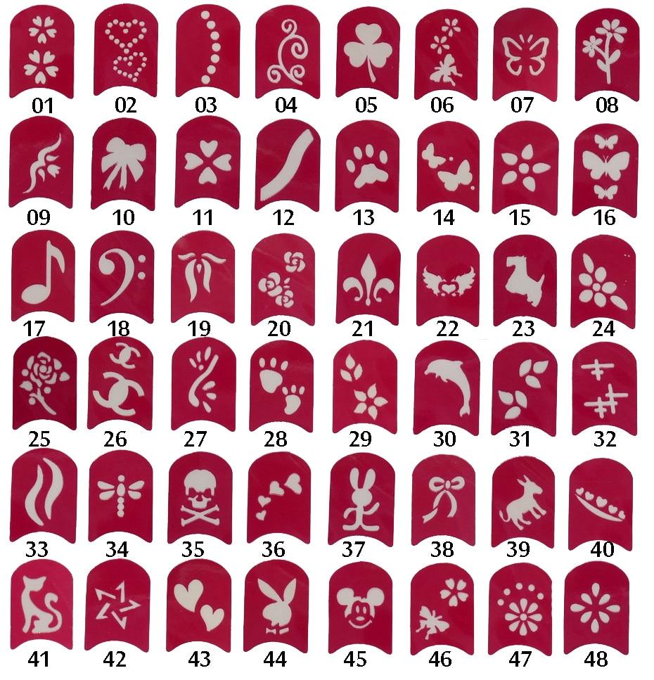 48 designs nail art painting stickers toe nail stickers nail hollow