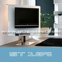 глас-сталь мебель, стекло с плоским экраном пост st109