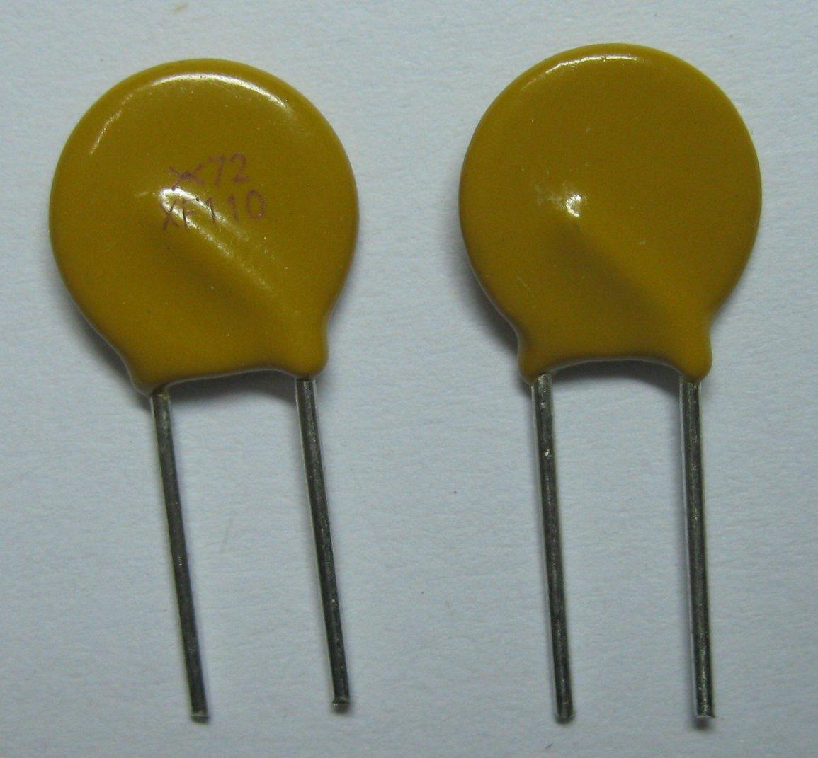 1000 шт. 72 в 1.1A полипереключатель радиальный этилированный PPTC сбрасываемый предохранитель
