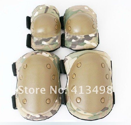 Helmet with 2 Knee /& 2 Elbow Pads Tactical Helmet /& Pads Set for Adults