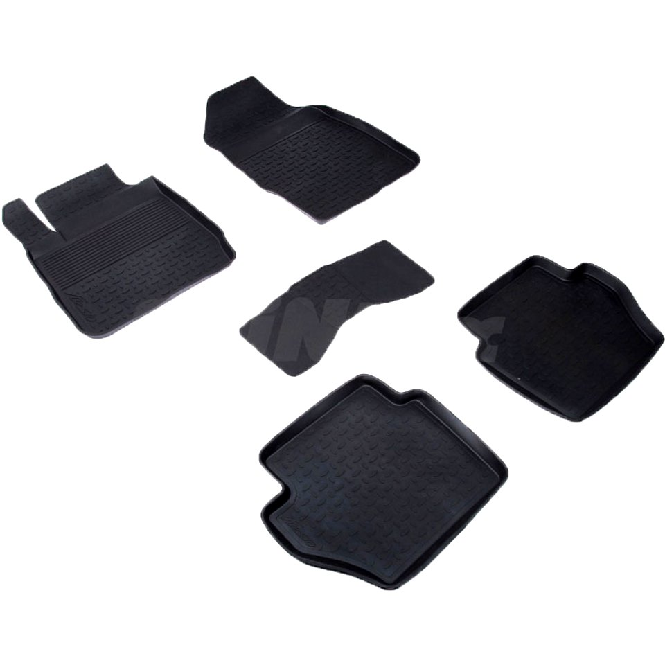 цена на Rubber floor mats for Ford Fiesta 2008 2009 2010 2011 2012 2013 2014 Seintex 01073