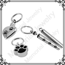 MJD8309 Hot Sale Stailess Steel Three Set Of Paw Pets Cremation Urn Key Chains Pendants Jewelry Keepsake Ashes