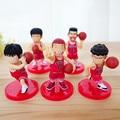 5 unids/set Anzai PVC Slamdunk Shohoku Hanamichi Sakuragi Figura de Acción Juguetes Kaede Takenori Akagi, 7 cm Clavada Figuras de Juguete Para Niños