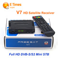 Original DVB-S2 Freesat V7 HD TV Vía Satélite Receptor Apoyo PowerVu Youtube Youporn Cccamd Newcamd Biss Llave USB Wifi Set Top caja
