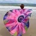 2016 Gift Largesummer colorful Reactive Printed Round Beach Towel Toalla Playa Serviette De Plage Swim Beach Towel 2016 hot
