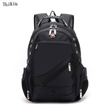 MenTravel School Bags Oxford Laptop Bags Waterproof Computer Knapsack Large Capacity Bag School Bags for College Students