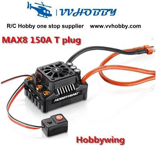Hobbywing EZRUN Max8 150A ESC contrôleur de vitesse sans balai WP étanche pour voiture RC 1/8 avec prise en T