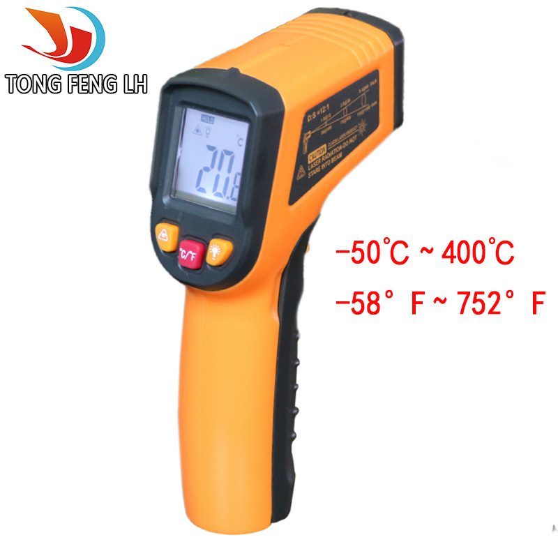 Digital Infrared Thermometer Professional Non-contact Temperature Tester IR Temperature Laser Gun Device Range -50 to 400C 2017 bside btm21c infrared thermometer color digital non contact ir laser thermometer k type 30 500 led