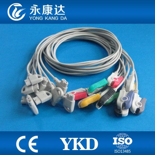 Compatible for HP Trim series 10 lead wires, IEC,Grabber endCompatible for HP Trim series 10 lead wires, IEC,Grabber end