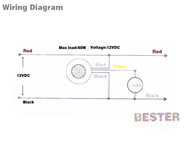 newest high sensitivity PIR 12V motion sensor switch,12V PIR switch ...