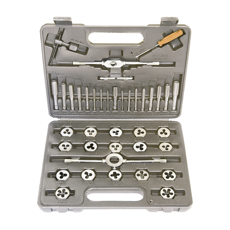A set of taps and dies SPARTA 773155 granville hardware tools 12 sets of tap wrench tap die set hand taps dies w0440