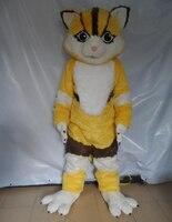צהוב וחום חתול קמע תלבושות למבוגרים חתול תלבושות