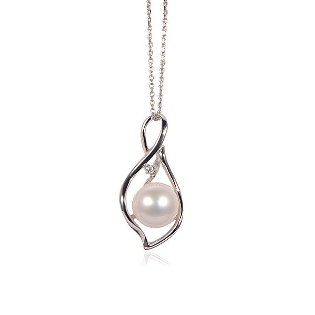 925 sterling silver jewelry necklace with natural  Pearl