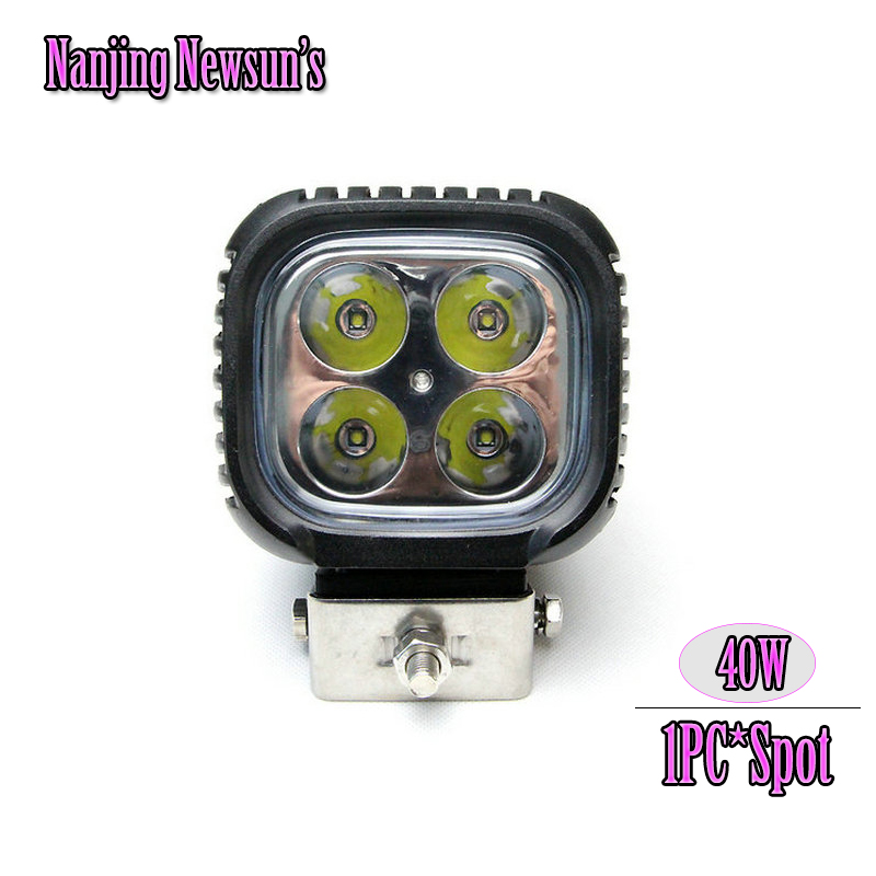 4.3inch 40W CREEchips  LED Work Light Spot beam waterproof for Off-road Truck Car ATV SUV Boat 4WD ATV 12V 24V Fog Driving Lamp waterproof 120w led work light bar spot flood combo beam car lamp for off road 4x4 truck suv atv fog lamp driving light 10200lm