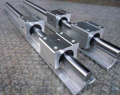2pcs SBR12 L500mm linear guide + 4pcs SBR12UU block cnc router 2pcs sbr12 400mm linear guide 4pcs sbr12uu block for cnc parts