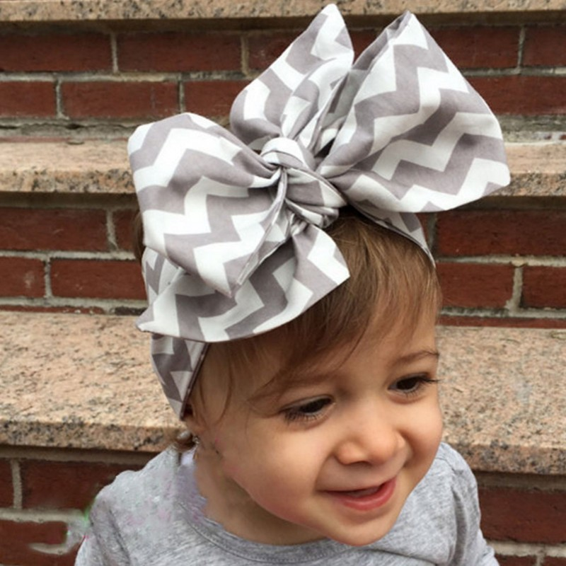 цены Big flower headband Girl Cloth Headband Bow hair ribbon bow Rabbit Ears Bow Elastic Hair Band