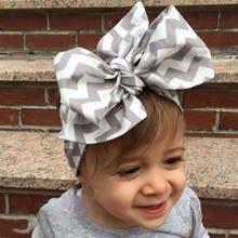 Cute Baby Girl Cloth Headband Bow hair ribbon bow accessories Rabbit Ears Elastic Hair Band