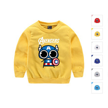 Toddler Boy Cotton Sweater Kids Boys Pullover Sweater O Neck Long Sleeve Tops Children Boys Yellow Sweater