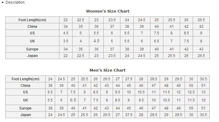 cosplay shoe size