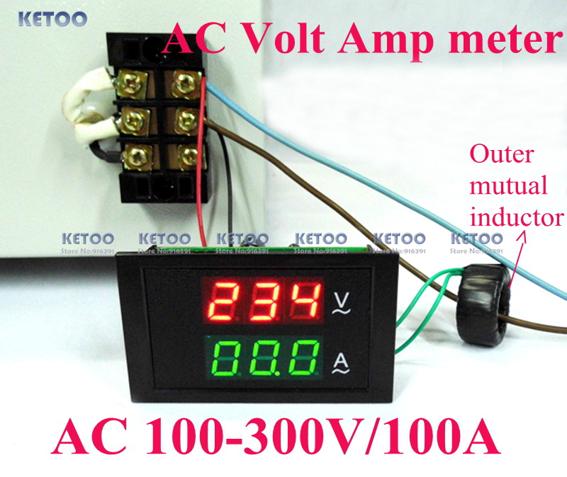 Aliexpress.com : Buy Blue red led display DC 0 100V/500A Dual Volt ...