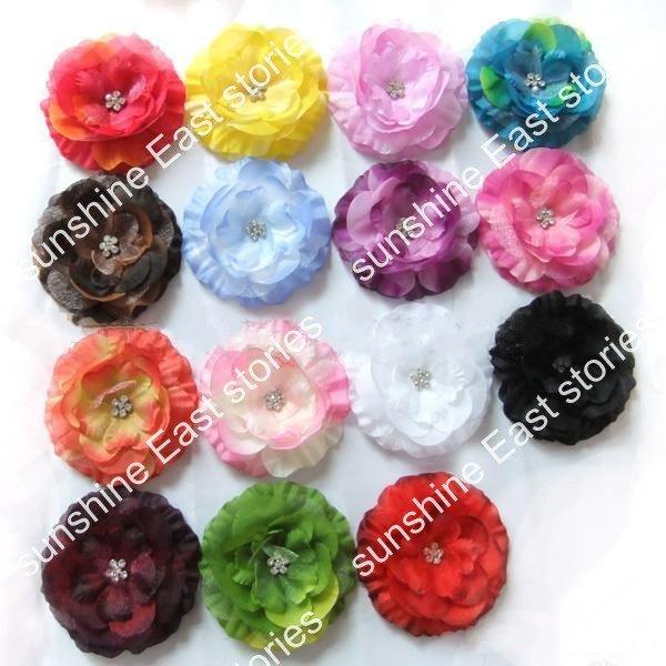 8,5 см бутик, цветы драгоценные камни центр цветок волосы бант шов буровые цветы, имитация алмаза с плоской задней частью 200 шт