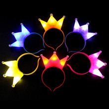 12pcs/lot Glow light Crown Xmas led light headwear for birthday party xmas decoration colorful led headband children gift