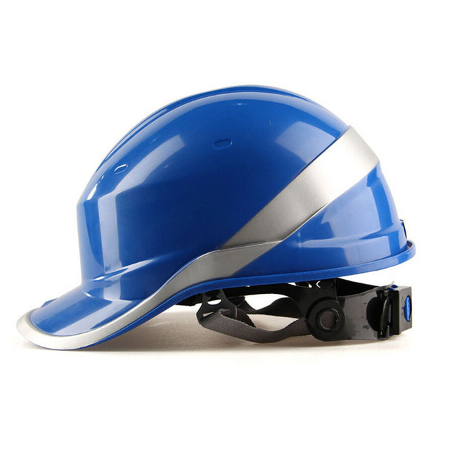 New Safety Helmet Hard Hat Work Cap ABS Insulation Material With Phosphor Stripe Construction Site Insulating Protect Helmets