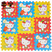 10pcs/lot HELLO KITTY puzzle carpet 30x30cm healthy EVA material mats Children crawling mat home supplies free shipping Y-465