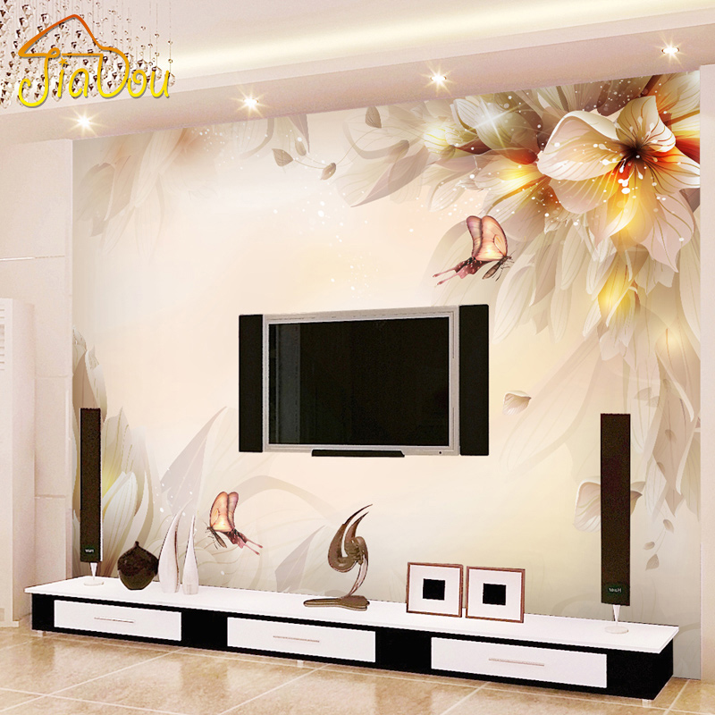 Online get cheap modern tv rooms alibaba for 3d wallpaper for living room india