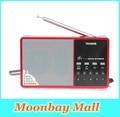 Brand New Высокая Чувствительность Горячая Продажа TECSUN D3 Fm-радио 64-108 МГц USB Спикер Цифровой Mp3-плеер и BL-5C Батареи Красный радио