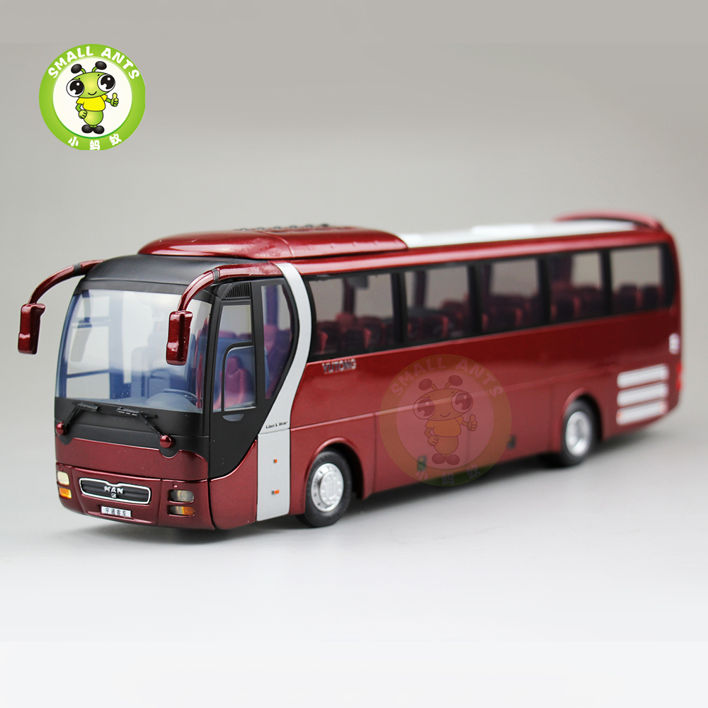 1:43 Scale MAN,Lion's Star Diecast Bus Coach Models Toys YuTong Bus ZK6120R41 1 38 china gold dragon bus models xml6122 diecast bus model blue