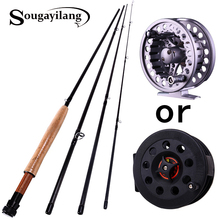 Fly Fishing Rod and Reel Combo 2.7m Fly Fishing Rod with Reel Fishing Tackle Rods Carbon Ocean Lake (Line As Free Gift ) Pesca