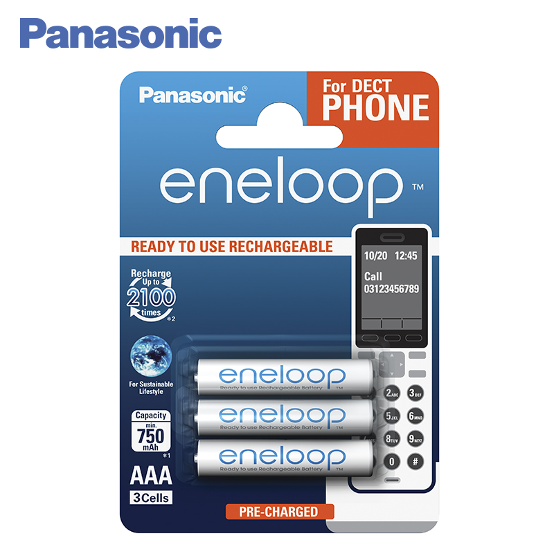 Panasonic BK-4MCCE/3DE Rechargeable Batteries eneloop 750mAh AAA DECT BL3 rush rush rush limited edition lp