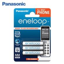Panasonic BK-4MCCE/3DE Аккумуляторы eneloop 750 мАч AAA DECT BL3. Оптимальное сочетание высокой емкости и большого количества циклов заряд / разряд – до 2 100 раз. Сохраняют до 70% энергии после 10 лет хранения.