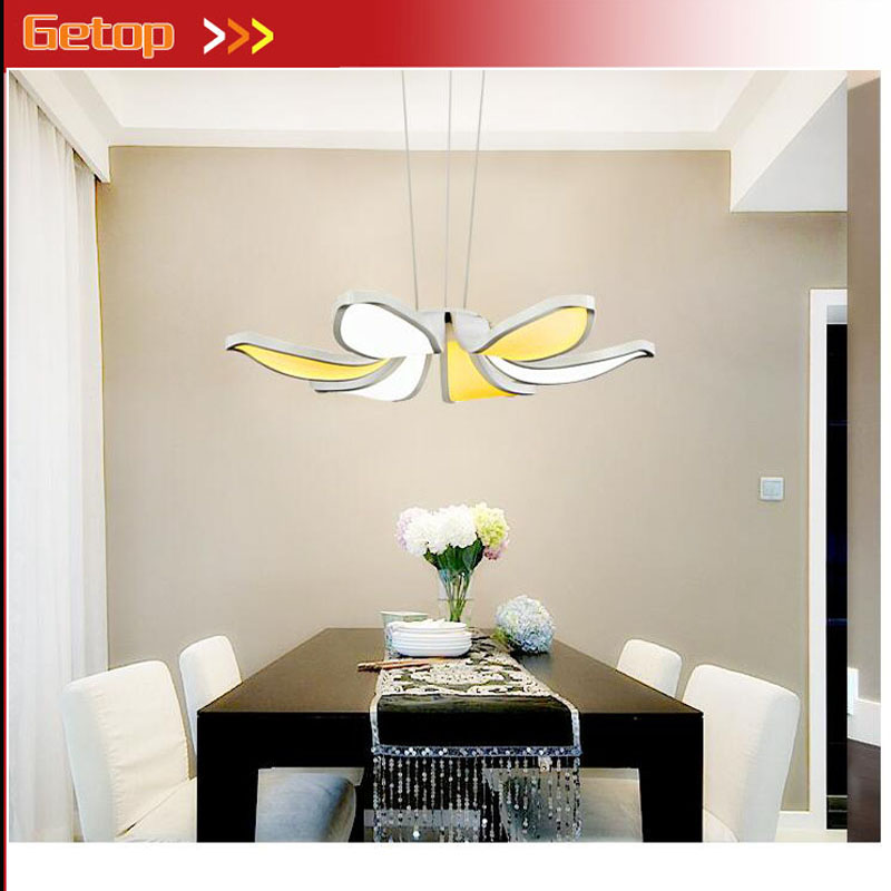 ZX Modern Acryl Flower Shape Chandelier Fixture LED Chip Pendant Lamp Sitting Room Coffee Bedroom Restaurant Study Indoor Lights zx modern aluminum led chip pendant lamp engineering hanging wire strip light fixture for office conference room study lamp