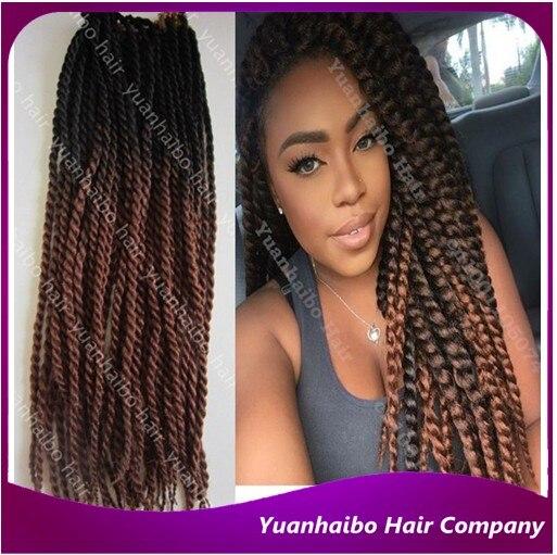 Senegalese Braiding 24 120g Pk Black Brown Synthetic Hair Single Twist Braid Ombre