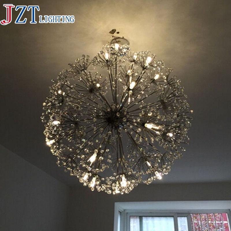 M Best Price European Style Minimalist Living Room Style Dining Hall Creative Lamp LED Dandelion Crystal Ceiling Lamp dandelion print dining mat