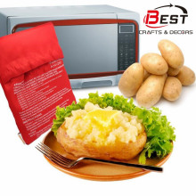 New Red Washable Potato Cooker Bag Microwave Cooking Potato Oven Baked Potatoes In Just 4 Minutes Useful Cooking Tool for Women green portable solar oven bag cooker sun outdoor camping travel emergency tool solar oven bag for cooking tools mayitr