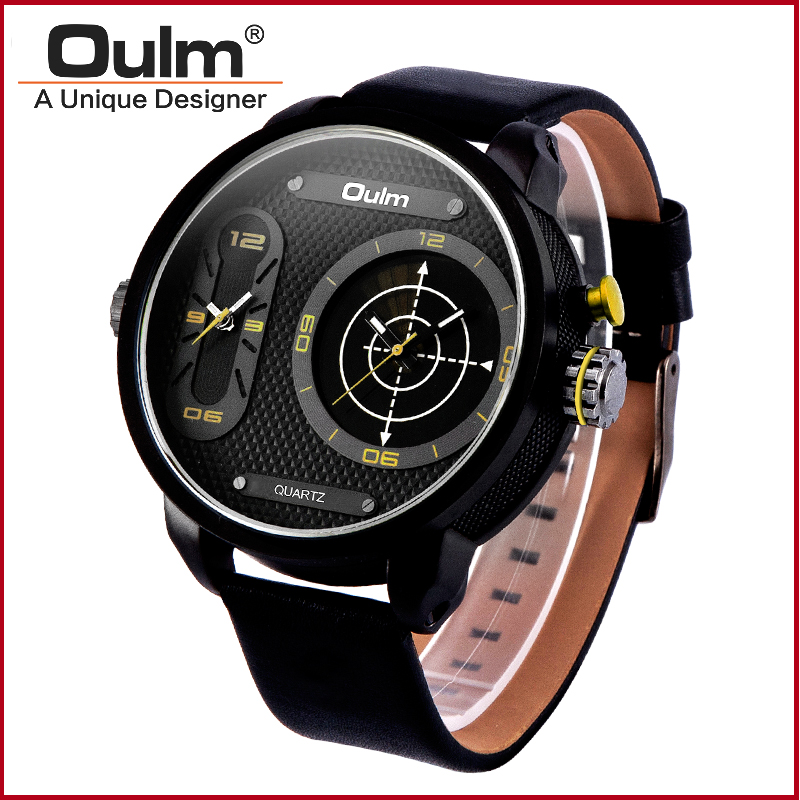 ФОТО dual time sport watches for men double movement digital sport watch with quartz PC21 movt HP3221B