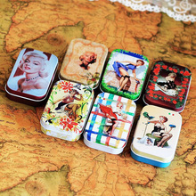 4 Pcs/lot Marilyn Monroe with the cover Mini Box Organization Metal Candy Box Pills Storage Case Small Tin box Novelty Home
