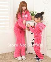 горячая! зима детская одежда, дети комплект с длинным рукавом + брюк, крыло velutum дети костюм, велет детский комплект