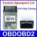 Melhor qualidade Tactrix Openport 2.0 ECU Tuning Chip ferramenta abrir portas USB 2.0 Flash de ECU OBD2 OBDII conector carros multimarcas para TIS